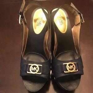 Navy MK sandals